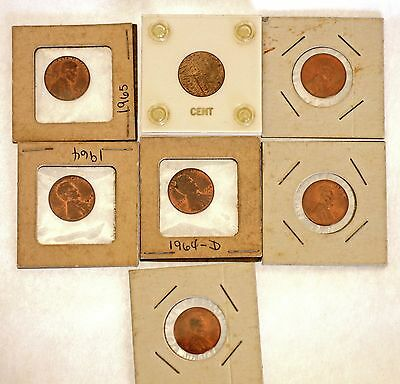 Lincoln Penny's  Key 1933 Date 7 Coins Uncirculated