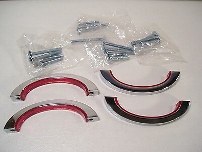 "New Lot 4 Liberty Red Chrome Color Pop 3"" Pull Drawer Handles P30246C-102-Cp"