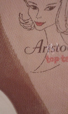 Vintage ARISTOC Top Teens STOCKINGS Size 9   -  FULL FASHIONED MESH