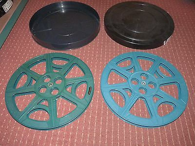 2x 1600FT  tuscan blue  16mm film spools in a 35mm can