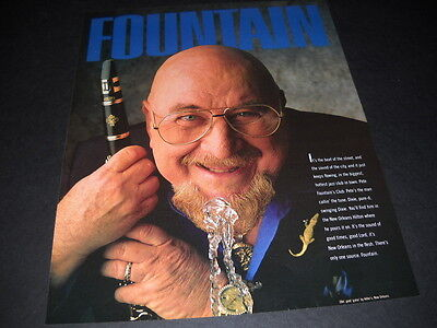 PETE FOUNTAIN w/ clarinet at water bubbler 1989 PROMO PSTER AD mint condition