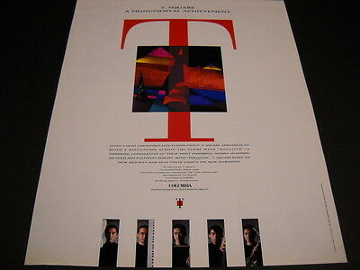 T-SQUARE Japan Formidible Jazz Fusion Group 1992 PROMO POSTER AD mint condition