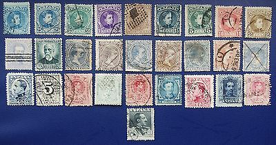 SPAIN - Early Collection of Used Stamps