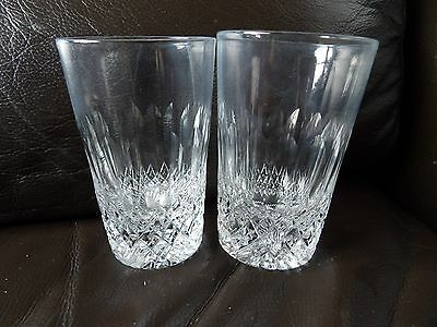 Pair of vintage Thomas Webb Made in England Normandy glasses 357-1