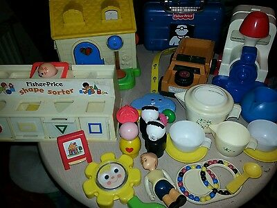 Selection of vintage fisher price nursery toys