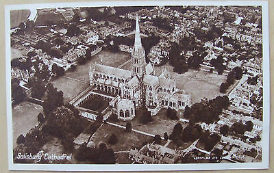 Old Salisbury Cathedral postcard mint with real photo
