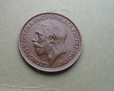 George V, Halfpenny 1916, Excellent Condition.