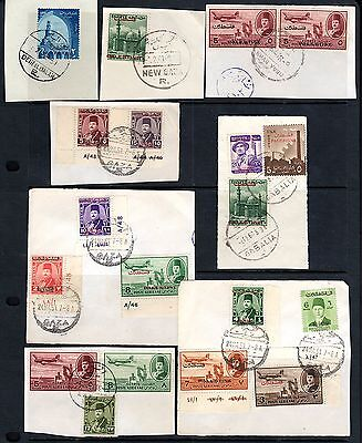 PALESTINE EGYPT 1950's COLLECTION OF TEN PALESTINE CANCELS INCL. VERY GABALIA