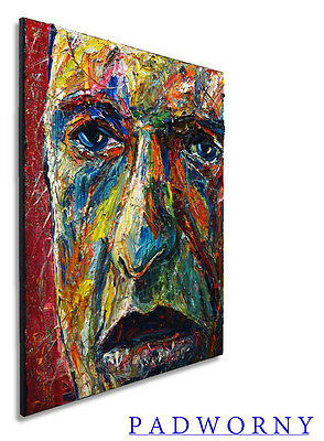 Original Oil Painting ABSTRACT SIGNED ON CANVAS OUTSIDER THICK VINTAGE LOOK POP