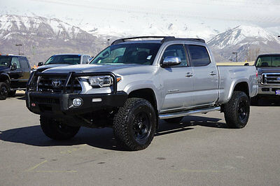 2016 Toyota Tacoma LIMITED TACOMA DOUBLE CAB LIMITED 4X4 CUSTOM LIFT WHEELS TIRES BUMPER LEATHER NAV ROOF