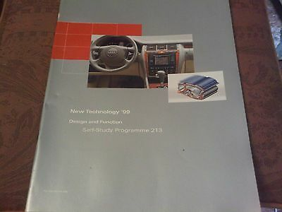Audi New Technology 99 Design & Function Self Study Programme like a brochure