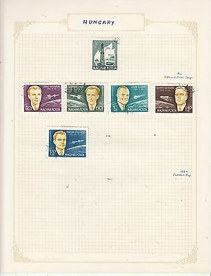 HUNGARY 1962 On Album Page Mostly VFU Items(a) removed for Shipping