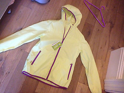 Running Jogging Cycling Light Rain Jacket Coat Pack It Ecorepel New Size S 10 12
