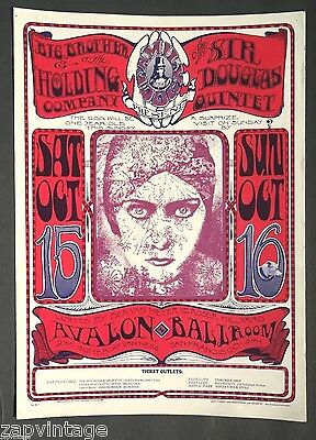 Big Brother & The Holding Company Concert Poster by Stanley Mouse Concert Poster