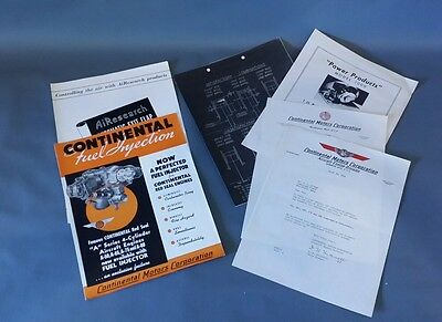 Continental Aircraft Engine A Series Pamphlet 1940's Aviation Motor Airplane Art
