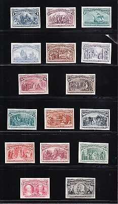 US 230P4-245P4 1893 Columbian Issue Plate Proofs on Card XF H SCV $2110 (-002)