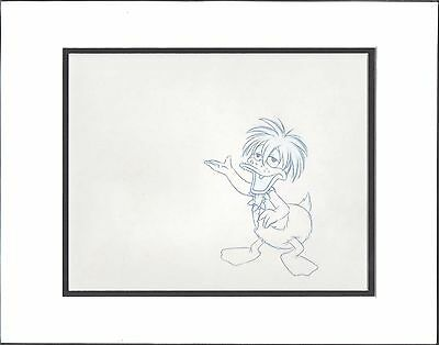 Donald Duck Disney original production animation cel drawing COA