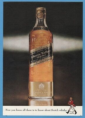 1962 Johnnie Walker Black Label Scotch Whisky 1960s Magazine Photo Whiskey Ad