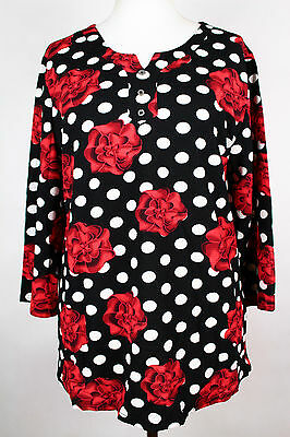 NEW WOMEN  TUNIC BLOUSE size 16/18 TOP  3/4 SLEEVE  LADIES   3175