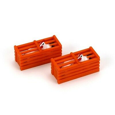Bachmann 92412 G Scale Chicken Crates (2) with Chickens Inside