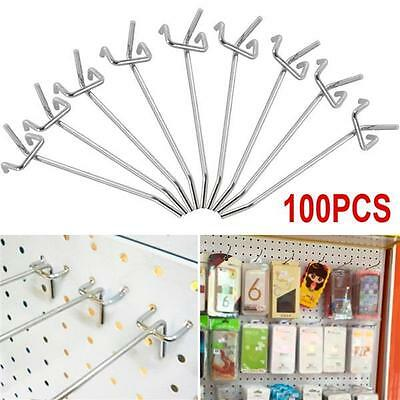 "4"" 100 Pcs Pegboard Hooks Garage Workshop Pegboard Hanging Tool Storage Display"