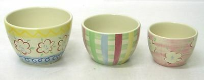 LONGABERGER EASTER Nested Bowls - Set of 3 New in Box Pottery Was $50