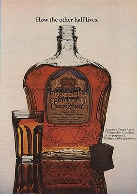 1970 Seagram's Crown Royal Whiskey How the Other Half Lives Ad