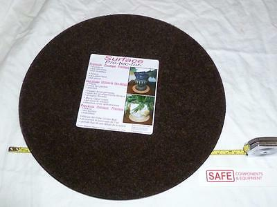 """Plant Mat Surface Protector 10"""" BRN Fabric Plastic Tray Round Floor 1-EA MM-145"""