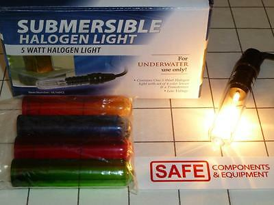Water Submersible Halogen Fountain Light 5W 12V 8-Feet 5-Colors Alpine MM-155