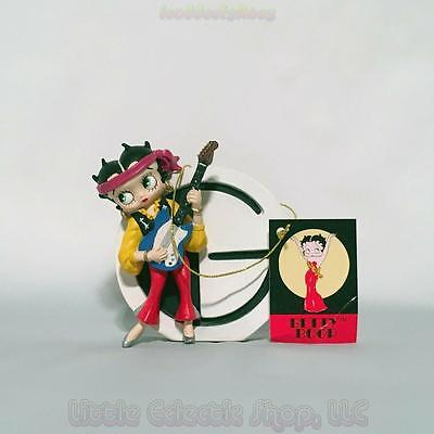 Betty Boop 6747 LETTER G for Guitar Resin Figurine, Hang or Stand