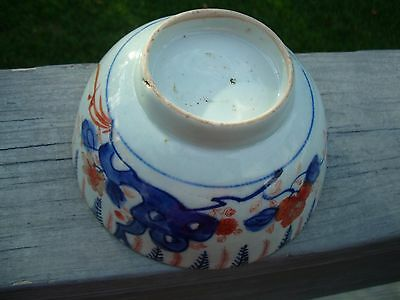 Antique Asian Japanese Imari Bowl Man w/Butterfly  NO RESERVE