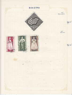 HUNGARY 1963 On Album Page Mostly VFU Items(b) removed for Shipping