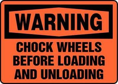 Warning Sign, 7 x 10In, BK/ORN, ENG, Text