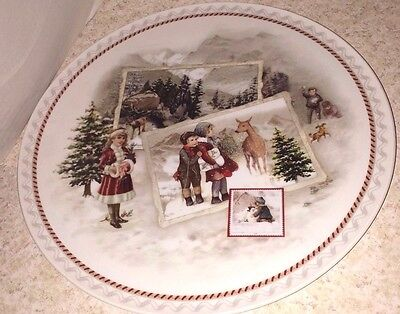 Villeroy & Boch Large Christmas Cake Plate Victorian Children Made In Germany