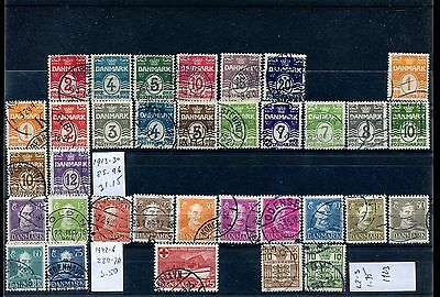 Denmark used, Small accumulation. (stamps only). x27219