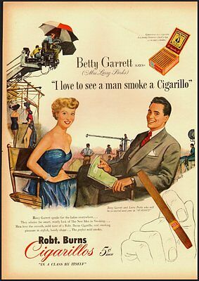 1951 Vintage Ad for Robt. Burns Cigarillos (020212)