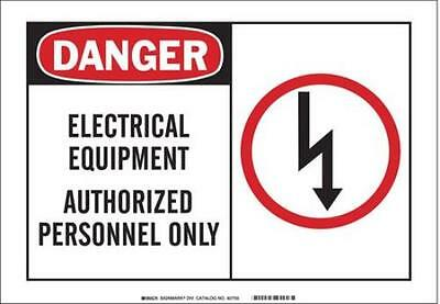 Safety Sign Label, 5 In. W, 3-1/2 In. H 2PK