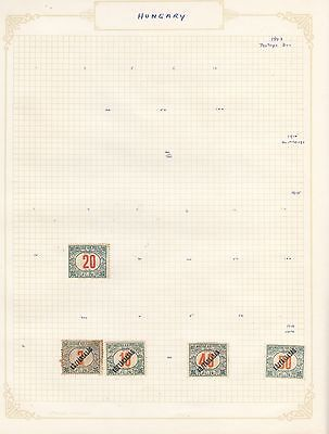HUNGARY 1915 +on old Album Page Removed for Shipping