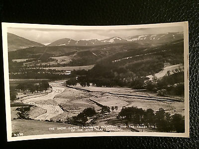 Old B&w Topographical Postcard Cairngorm Mountains, Valley Of The Avon Tomintoul