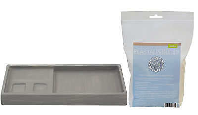 Casting mould Plate long 15,5x36cm with Plast alin 1000g