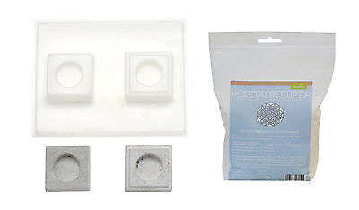 Casting mould Tealight holder square 7x7 cm with Plast alin 1000g
