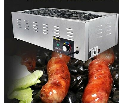 Commercial Electric Sausage Machine HOTDOG MAKER Food Heating Lava Rock Grill