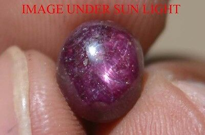 4.75 Cts NATURAL STAR RUBY/SAPPHIRE BEAUTIFUL UNHEATED UNTREATED {VIDEO} F1901