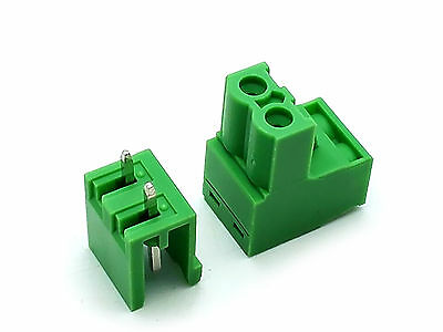 10 Sets 2EDG 2 Pin 2P Plug-in Screw Terminal Block Connector 5.08mm Pitch