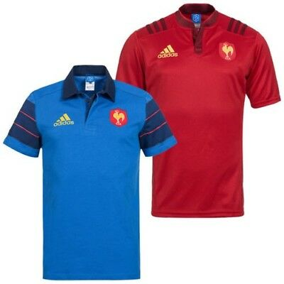France adidas Men's Rugby Jersey Les Bleus Jersey Training Jersey France