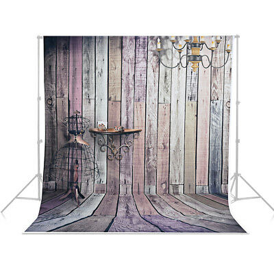au Local 5x7 ft Gradient Studio Photo Backdrop Background Wooden Brown wall