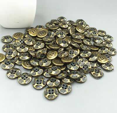 100PCS Lettering 4-holes Round decoration Resin Buttons sewing scrapbooking 12mm