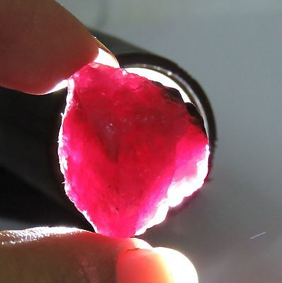 Top Quality 34.60 Cts Natural GGL Certified Red Beryl (Bixbite) Gemstone Rough