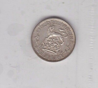 1925 George V Sixpence In Good Very Fine Or Better Condition