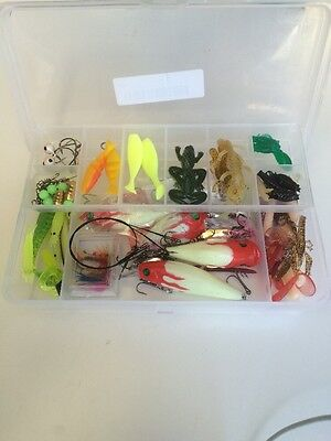 100pc Fishing Lures Mixed Assorted Fish Hooks Baits Tackle Box Bass Minnow New